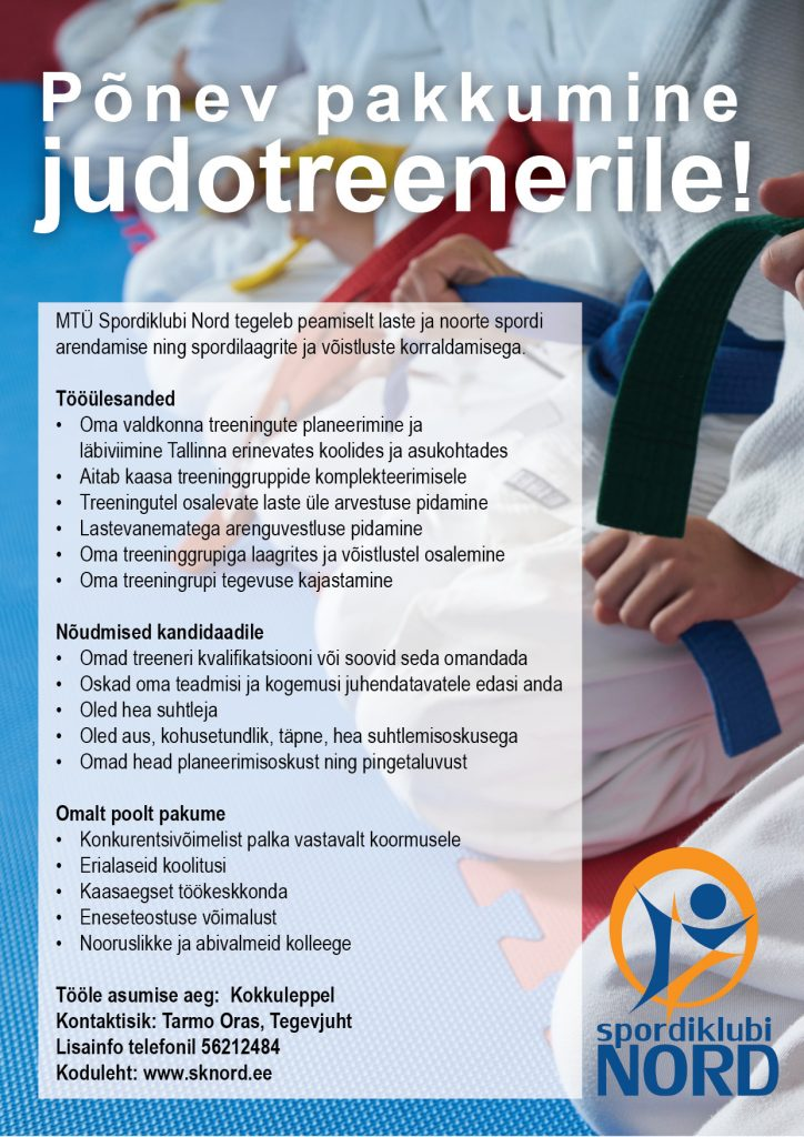 Tööpakkumine_judo