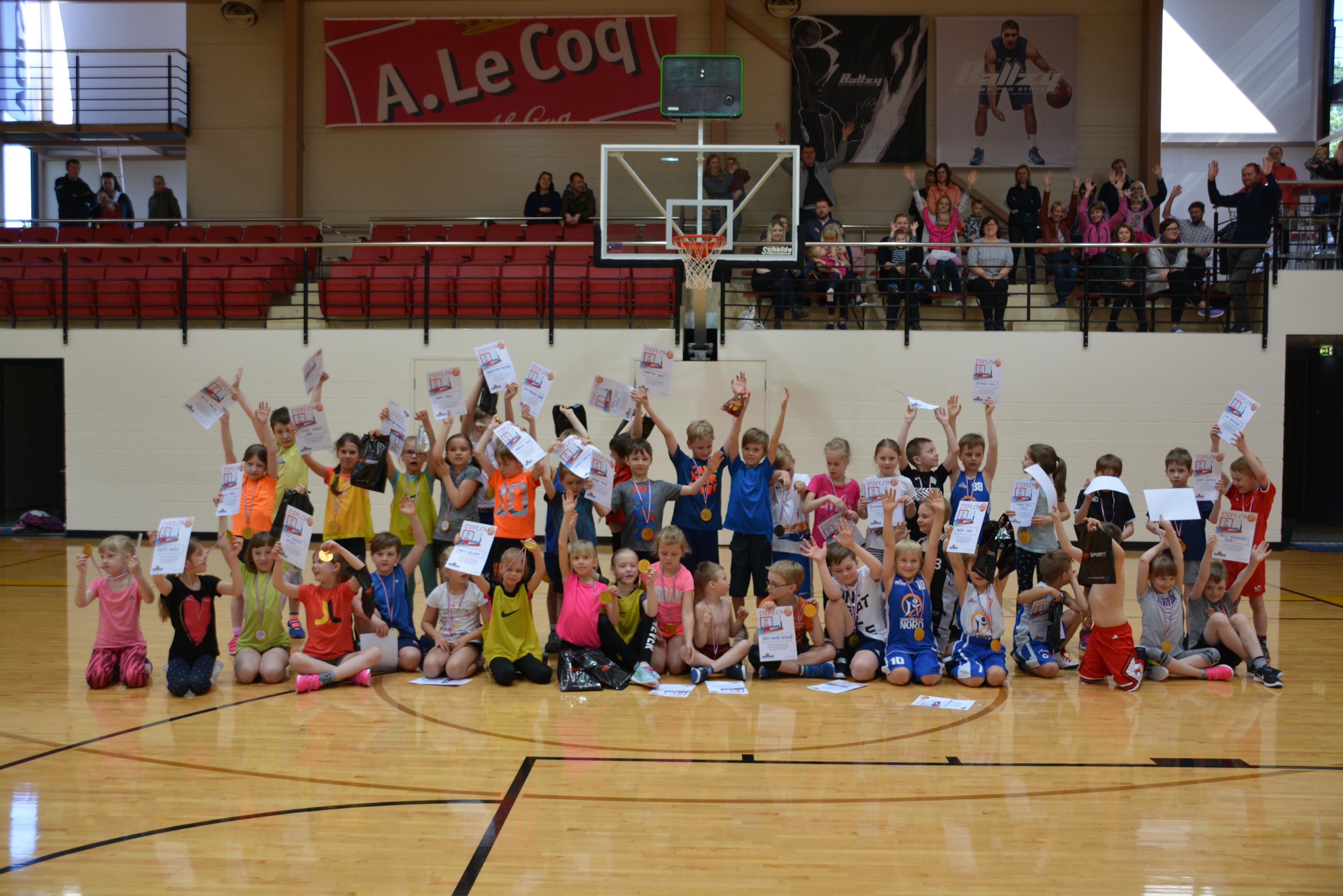 5.mail toimus 1.klasside gruppide korvpallipäev