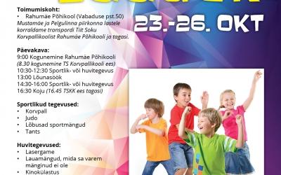 Sportlik linnalaager 23.-26.oktoober.