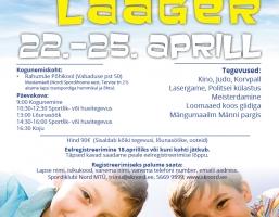 Kevadine sportlik linnalaager 22.-25.aprill 2019