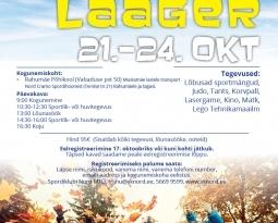 Sportlik linnalaager 21.-24.oktoober