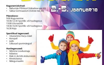 Sportlik linnalaager 02.-05.01.2018