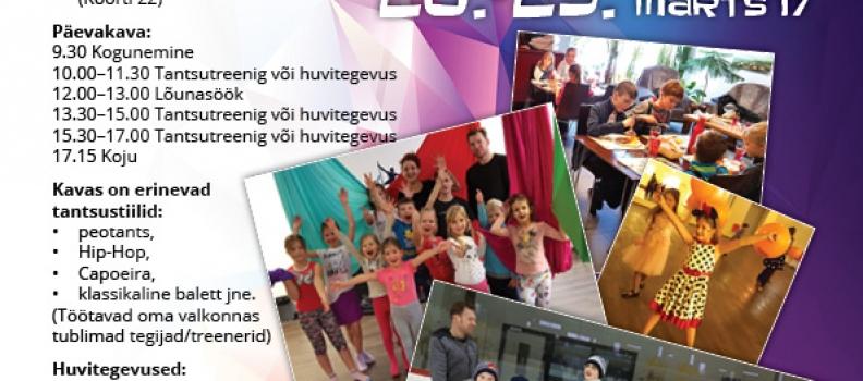 20.-23. märtsil toimub tantsuline linnalaager!!