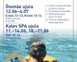Ujumise suvekursused 7-12 aastastele lastele Õismäe ja Kalevi ujulas